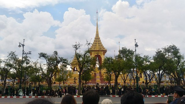 Live broadcasting of the Royal Cremation Ceremony for His Majesty King Bhumibol Adulyadej