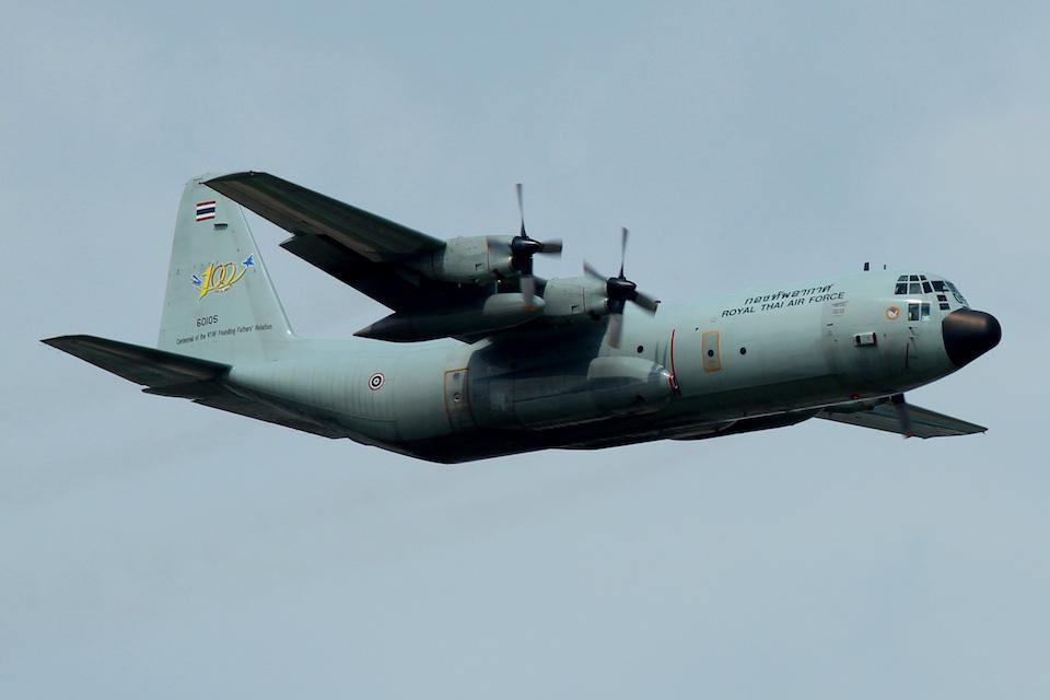 Royal Thai Air Force Lockheed C-130 Hercules in flight