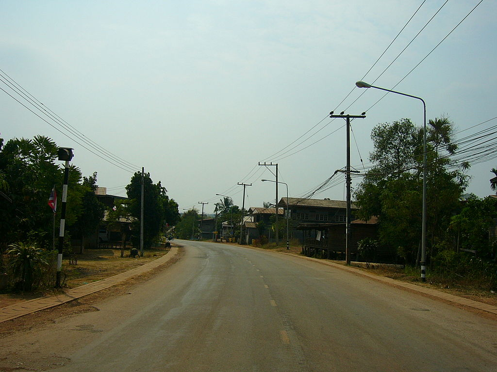 Rural road in Isan