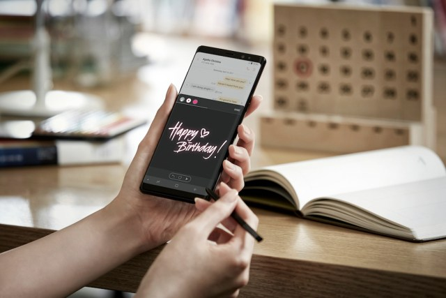 Samsung Galaxy Note 8 Live Message