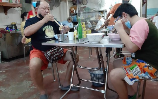 According to the Thai government preventive measures, restaurants are required to arrange a physical distancing at least 1.5 meter and if customers share the table, it is required to have a shield to separate encounter