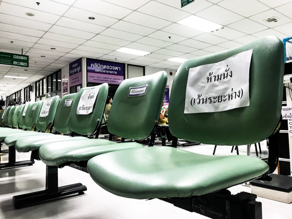 Seating arrangements during COVID-19 outbreak in Thailand