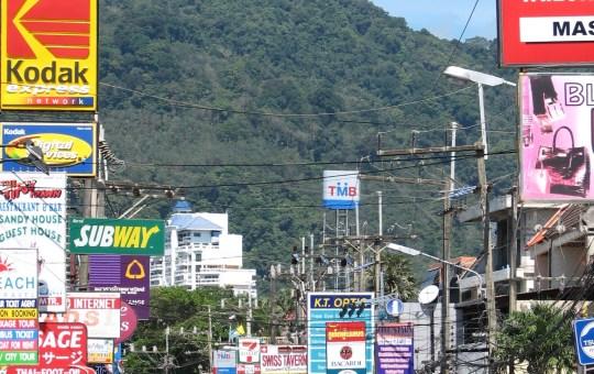 Signs in Patong, Phuket