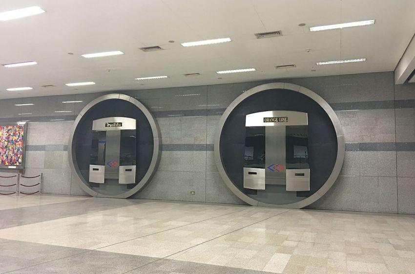 Future MRT Orange Line platforms