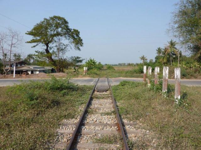 Unidentified motorcyclist killed at Korat rail crossing