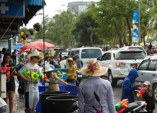 Songkran (Thai New Year) celebrations in Pattaya