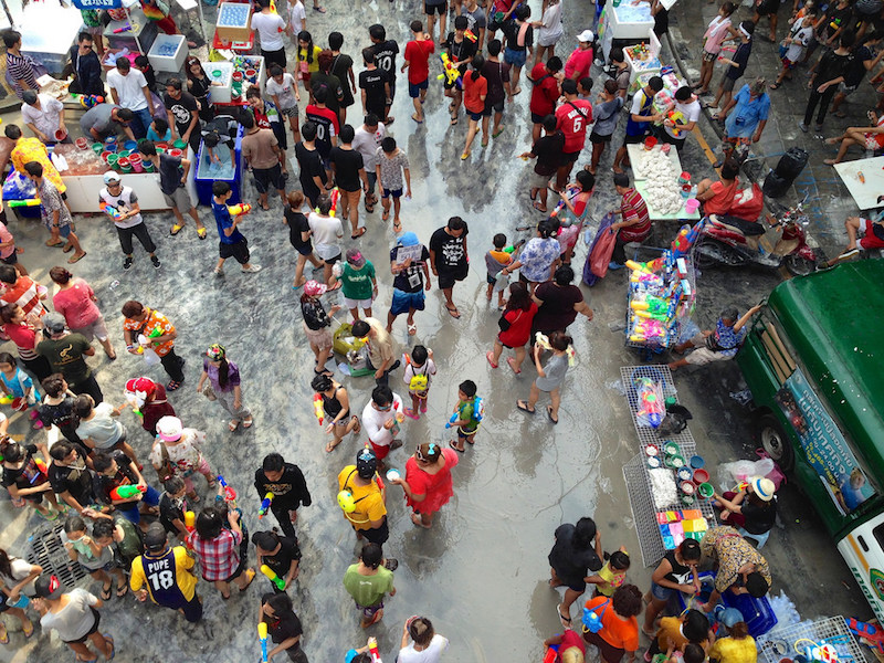 Songkran in Silom Road