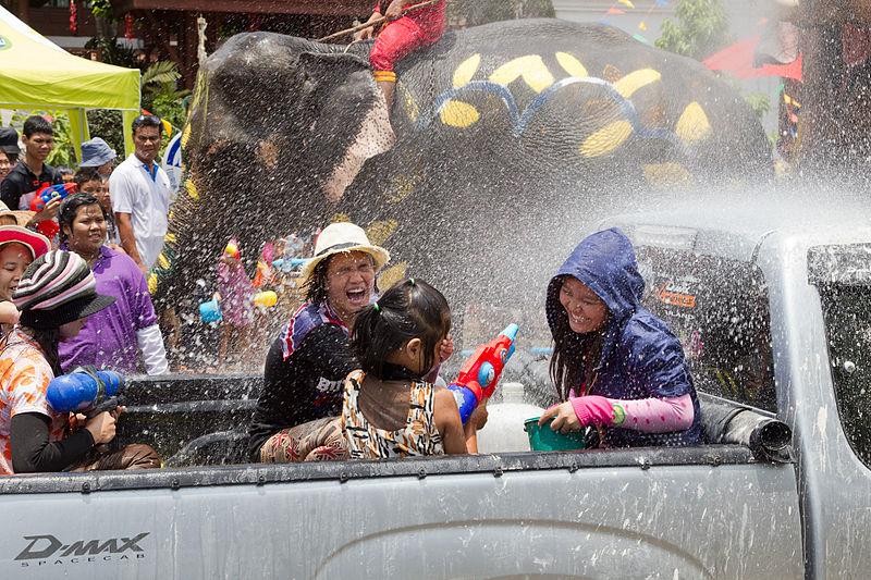 Songkran in Ayutthaya