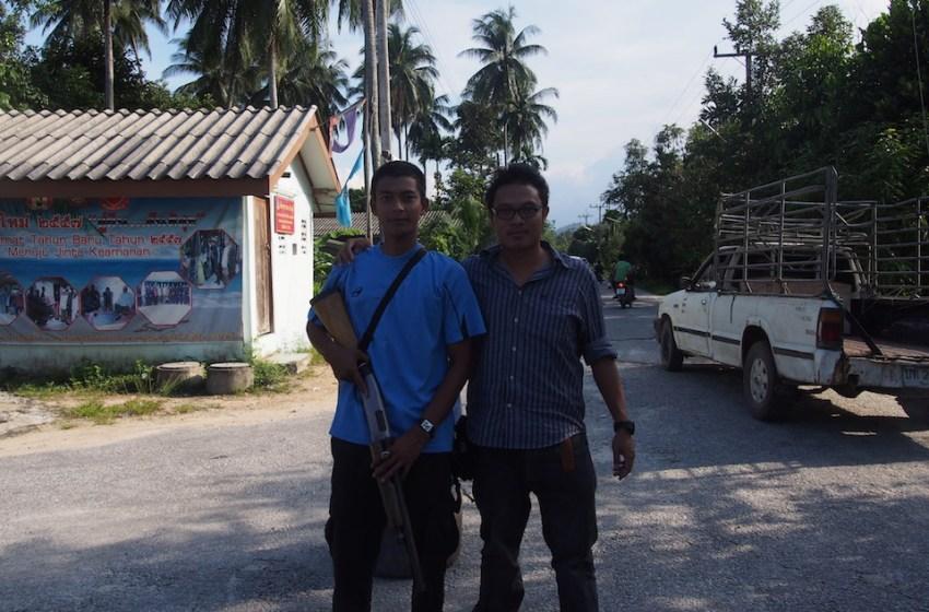 Paramilitary rangers in Narathiwat, Southern Thailand