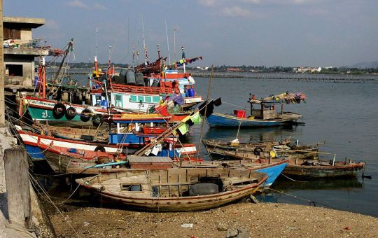 Fishing boats in Sriracha