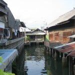 Stilt houses in Sriracha, Chonburi province