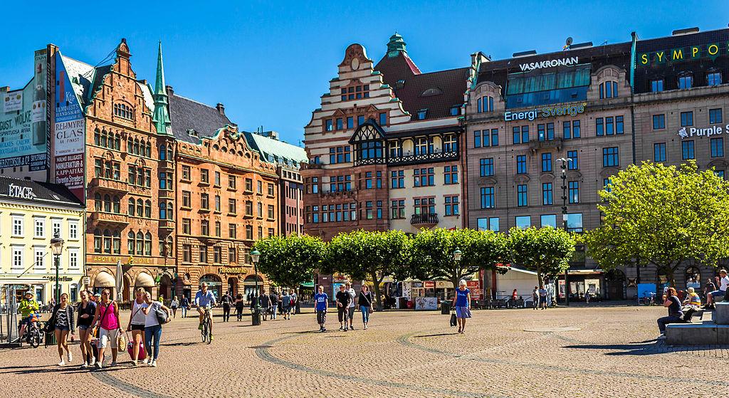 Stortorget, a large plaza in Malmö, Sweden