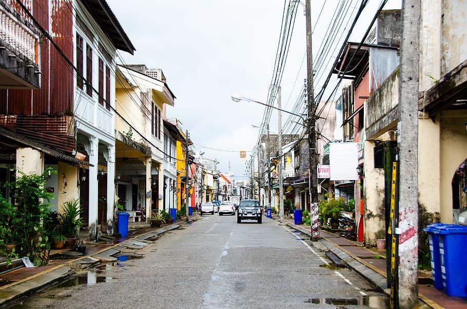 Street in Phuket Town, Phuket island