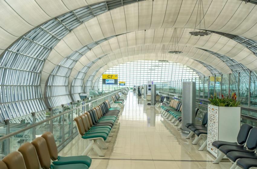 Empty Gate C7 at Suvarnabhumi Airport, Bangkok