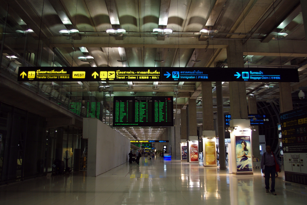 Baggage Claim signs at Suvarnabhumi Airport