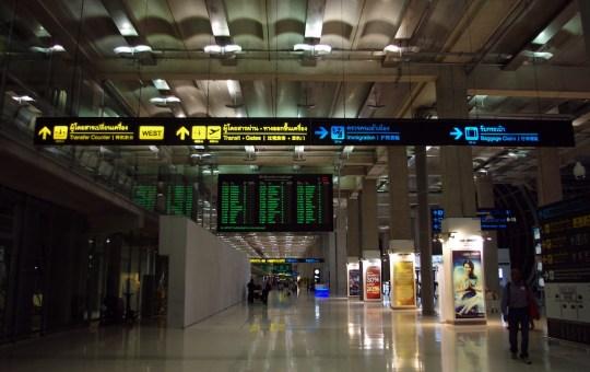 Baggage Claim signs at Suvarnabhumi Airport