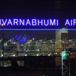 Suvarnabhumi Airport Terminal from Novotel Airport Hotel in Bangkok