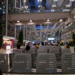Bangkok Suvarnabhumi Airport Arrivals Hall (on far left)