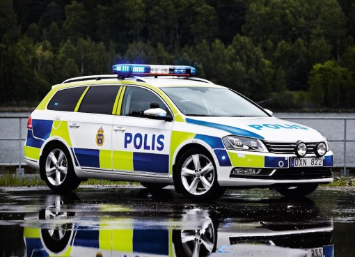 VW Passat Swedish Police car