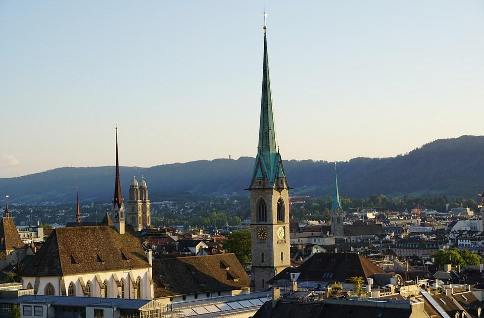 Churches in Zurich old town