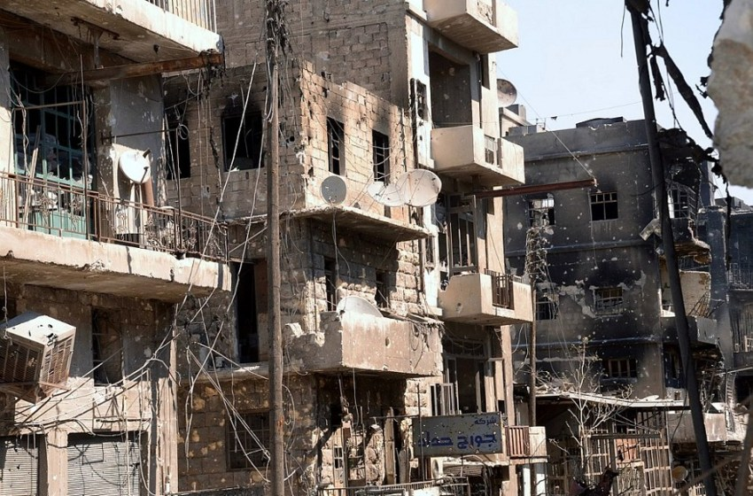 Destruction in Aleppo, Syria