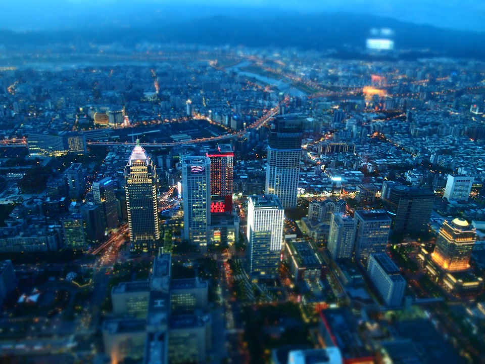 Taipei skyline at dusk