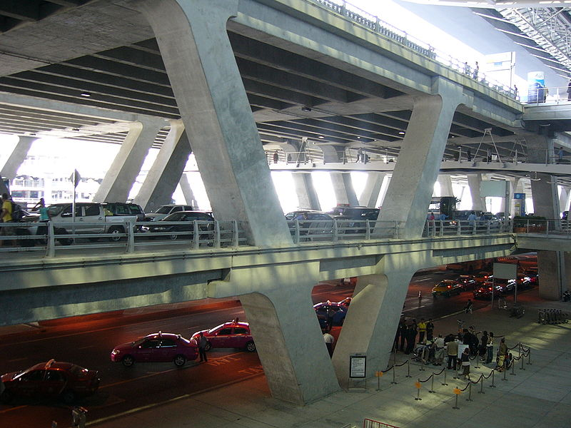 Official taxis at Suvarnabhumi International Airport in Bangkok