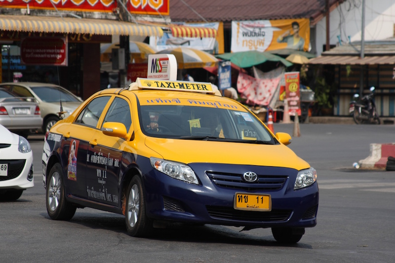Toyota Corolla taxi in Phitsanulok, Thailand