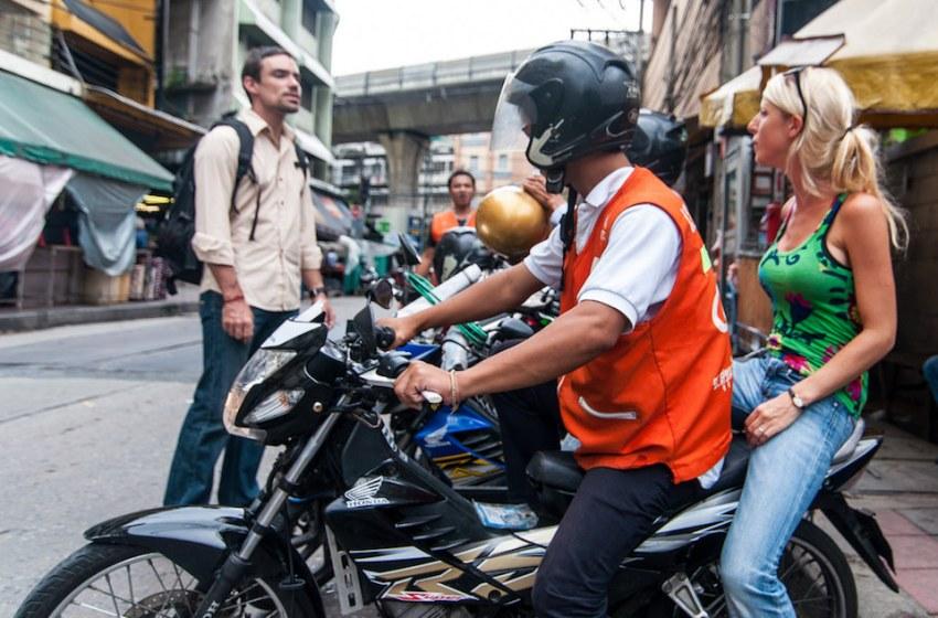 Motorcycle taxi on Sukhumvit Soi 11