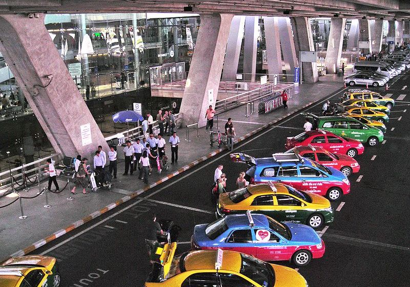 Main Taxi stand of Suvarnabhumi Airport in Bangkok