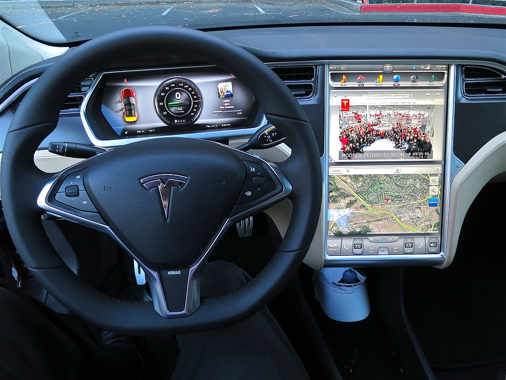 2012 Tesla Model S digital panel