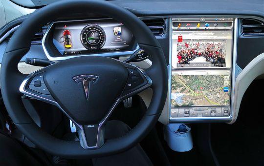 2012 Tesla Model S digital panel