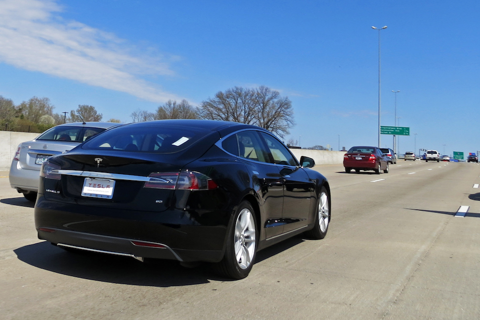 Tesla Model S electric five-door car, the safest sedan on the road