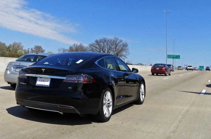Tesla Model S electric five-door car, the safest sedan on the road