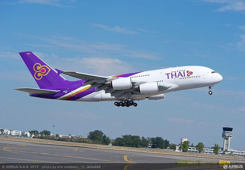 THAI Airways Airbus A380-800 aircraft