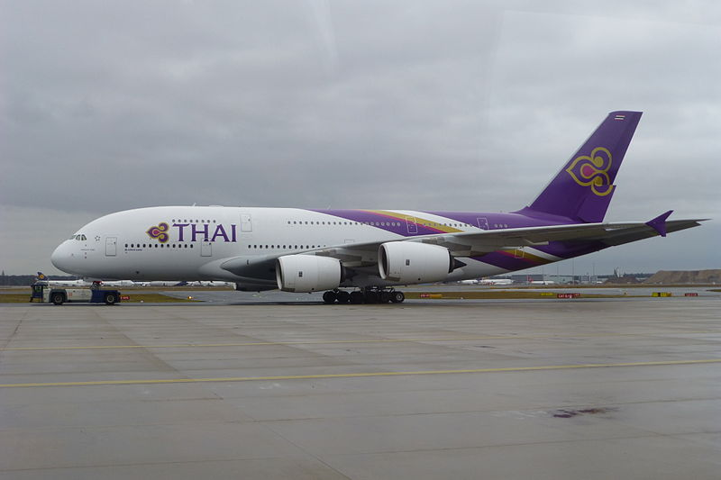 Thai Airways Airbus A380 at Frankfurt Airport