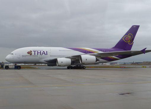 Thai Airways Airbus A380 at Frankfurt Airport
