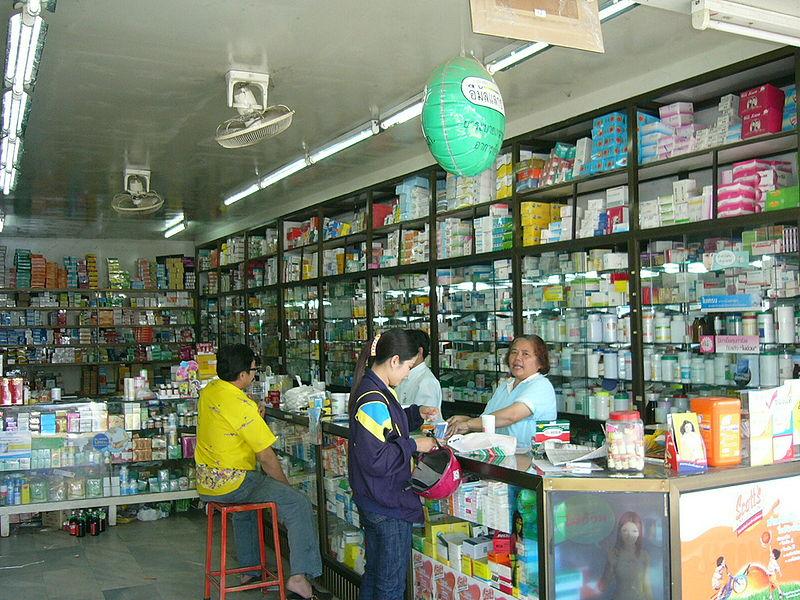 Pharmacy in Sakon Nakhon province, Thailand