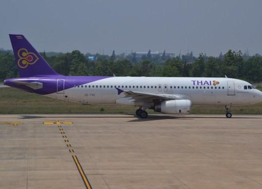 Airbus A320 of Thai Airways International at Khon Kaen Airport