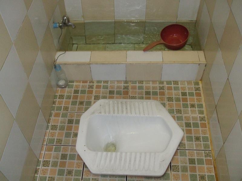 Traditional Thai toilet.