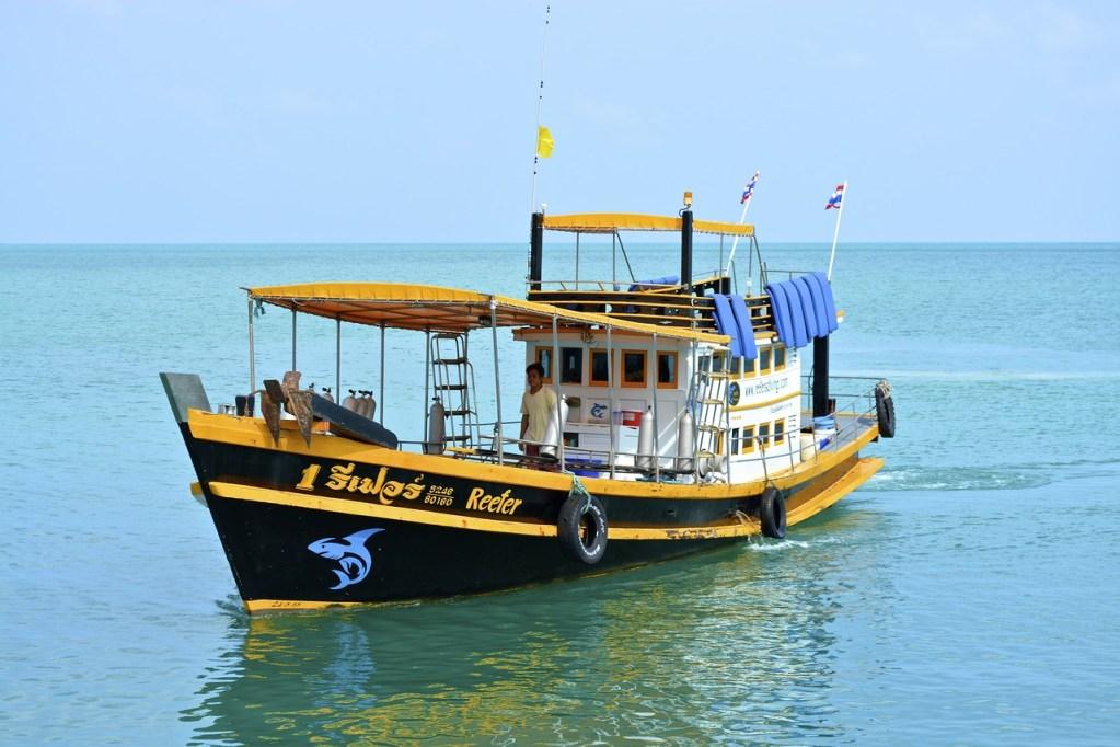 Traditional Thai fishing boat