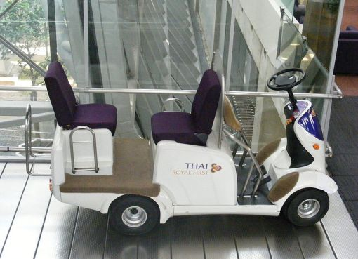 Thai Airways electric vehicle at Suvarnabhumi
