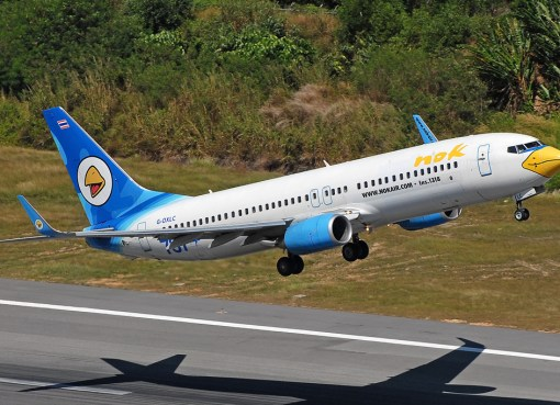 Nok Air Boeing 737-800 in Phuket.