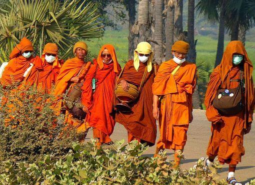 Thai Monks in Carika, India