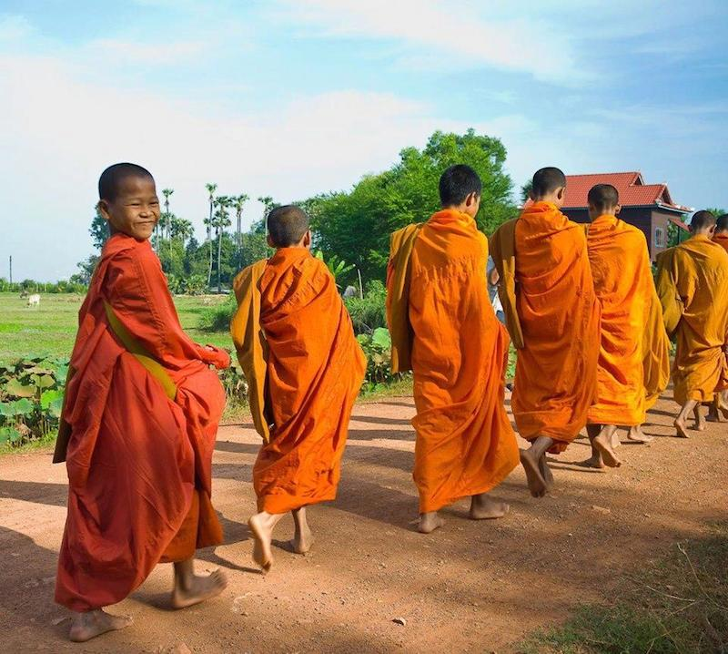 Young Thai Buddhist monks