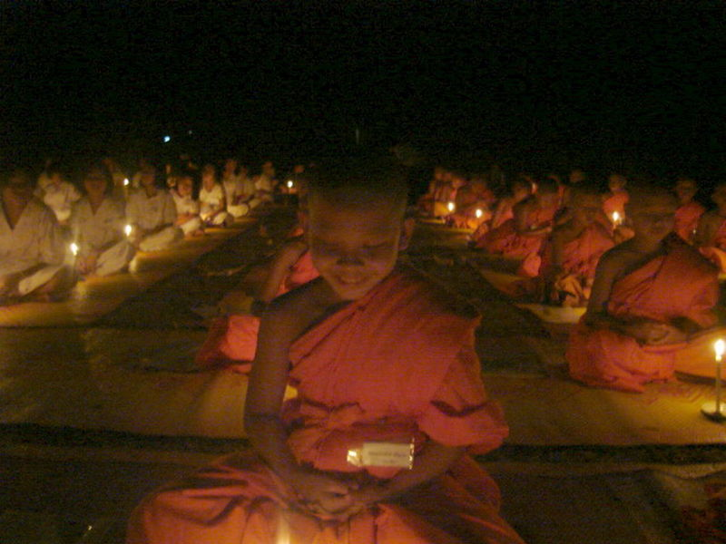 Candle-lit ceremony in Thailand