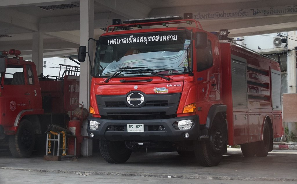 HINO truck fire engine in Thailand
