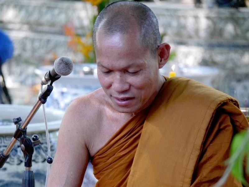 Phra Buddha Isara, monk leader of PDRC protests in Bangkok