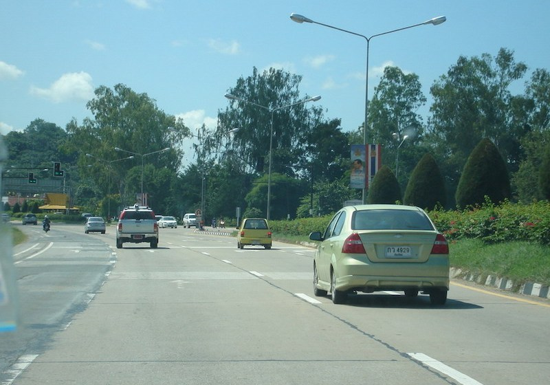 A road in Lamphun, northern Thailand