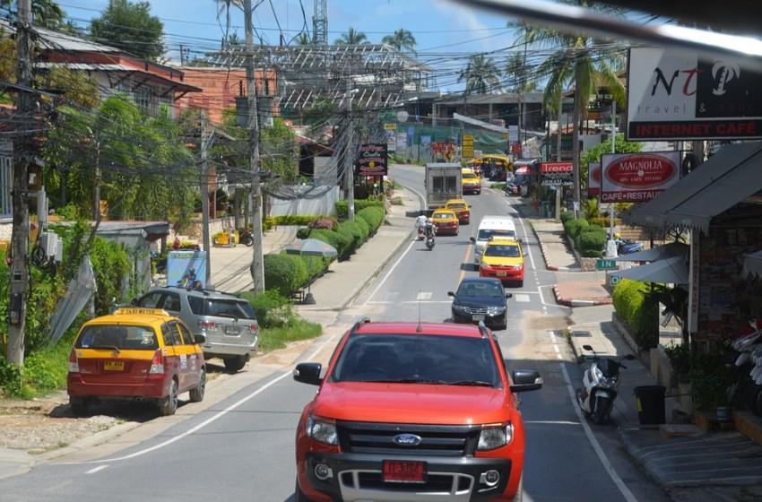 Road traffic on a street